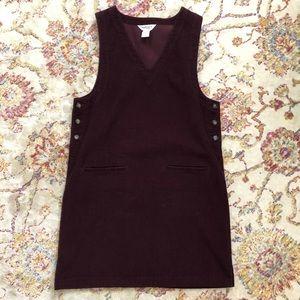 Burgundy Corduroy Jumper Dress